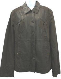Paloma Blanca Cotton Leather 44 BROWN Jacket