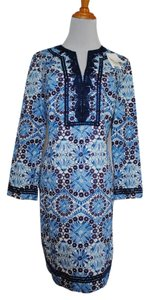 Tory Burch short dress Blue Odelia Cotton on Tradesy