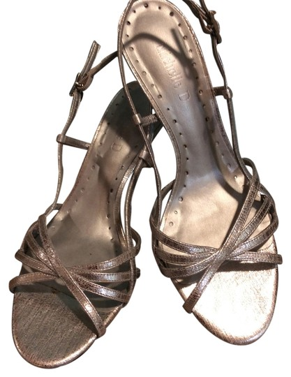 Michelle D Silver metallic Sandals