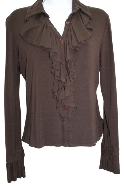 EL CORTE INGLES Stretchy Dark Brown Top