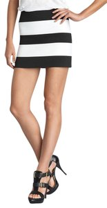 Pleasure Doing Business Mini Skirt Black & White