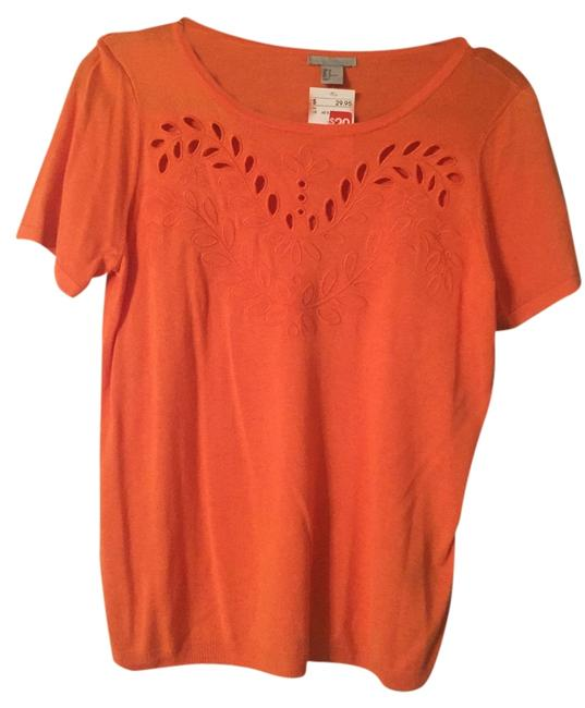 Preload https://item3.tradesy.com/images/charlotte-russe-orange-cute-cut-out-designs-blouse-size-8-m-5456137-0-0.jpg?width=400&height=650