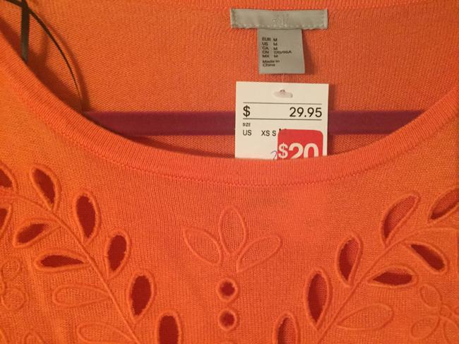 Charlotte Russe Cut-out Top Orange