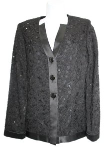 Other Embellished Black Lace Evening Jacket Blazer