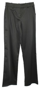St. John Evening Stretch Satin Straight Pants BLACK