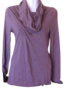 Anthropologie Lilka Cowl Neck Long Sleeve Pima Cotton Ruched Tunic