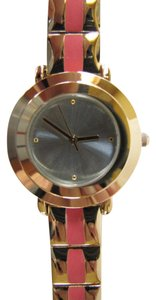 Chico's Finnley Coral and Goldtone Bracelet Watch NWT $49 Lightweight