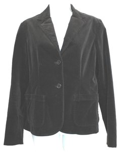 Gap Stretchy Black Cotton Velvet Blazer
