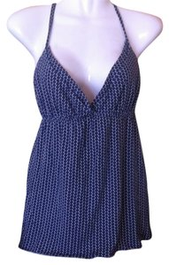 J.Crew Spaghetti Straps Top Navy Blue, White