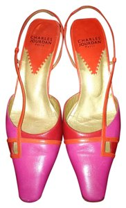 Charles Jourdan Leather Pink Pumps