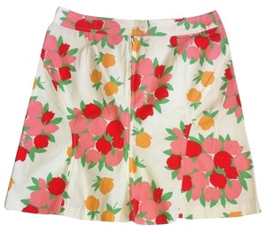 Anthropologie Elevenses Tulips Bouquets Skirt Multi