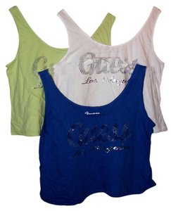 Guess Lime Green Blue Top Multi