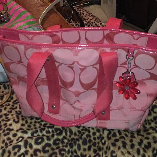 Coach Satchel in Coral/Pink