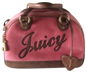 Juicy Couture Pink/brown/gold Travel Bag