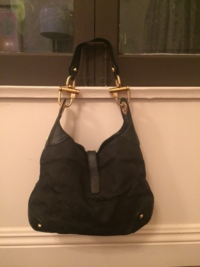 Gucci Gold Hardware Monogram Vin Shoulder Bag