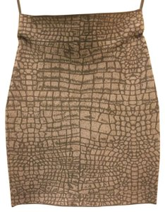 BCBGMAXAZRIA Mini Skirt Gray/white animal print