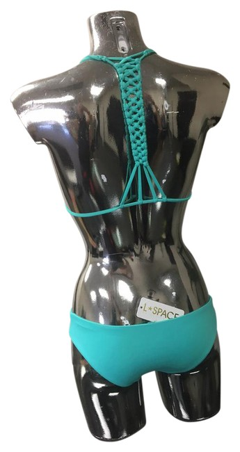 L*Space L Space Turquoise Green Small Bikini Knotty