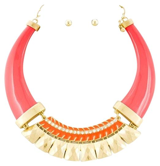 Preload https://item4.tradesy.com/images/other-matte-coralorange-acrylic-and-clear-rhinestone-choker-and-earrings-5457868-0-0.jpg?width=440&height=440