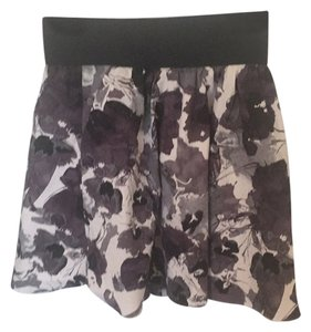 Express Mini Skirt Black White And Gray