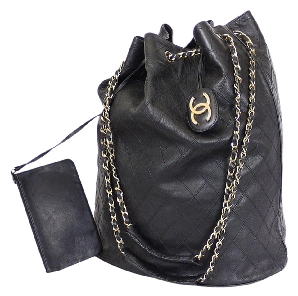 b094ad3f28f7 Chanel Vintage Tote Jumbo Classic Overnighter Xl Shopping Shoulder Bag  Image 0 ...