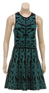Parker short dress Green and Black on Tradesy