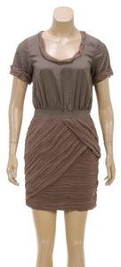 Diane von Furstenberg short dress Taupe on Tradesy