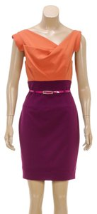 Black Halo short dress Orange/Purple on Tradesy
