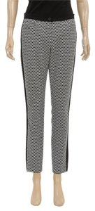 Escada Straight Pants Black/White