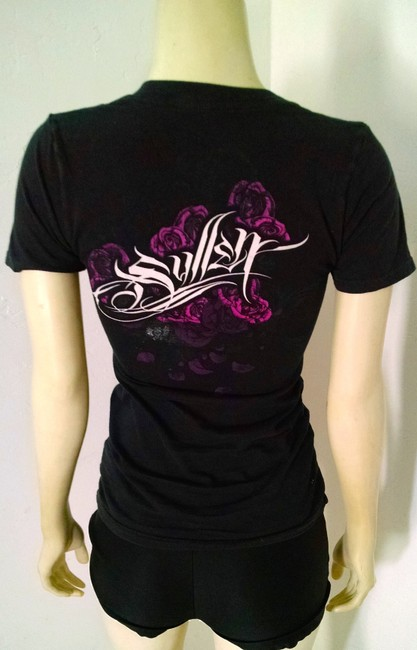Sullen Size X-small Fitted T Shirt Black, Pink, White