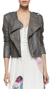 Twelfth St. by Cynthia Vincent Leather Moto Embossed Leather Jacket