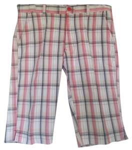 Bermuda Bermuda Shorts Red/White/Black/Tan Plaid