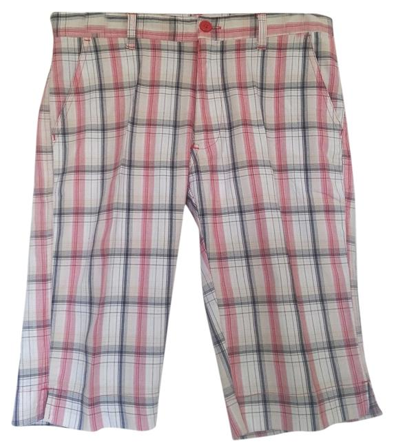 Other Plaid Bermuda Shorts Red/White/Black/Tan Plaid