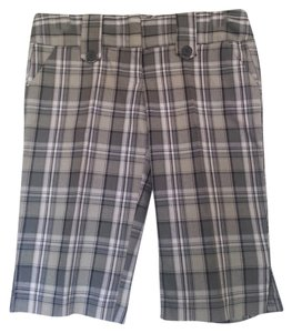 Bermuda Bermuda Shorts Gray/White/Black/Tan/Lavender Plaid