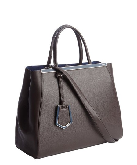 Fendi 2jour 3jour 2 Jour Tote in Deep Brown