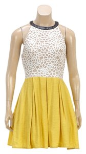 A.B.S. by Allen Schwartz short dress Yellow/Multicolor on Tradesy