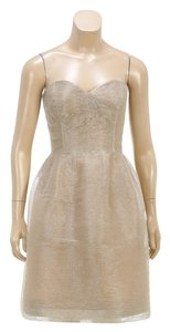 Oscar de la Renta short dress Gold on Tradesy