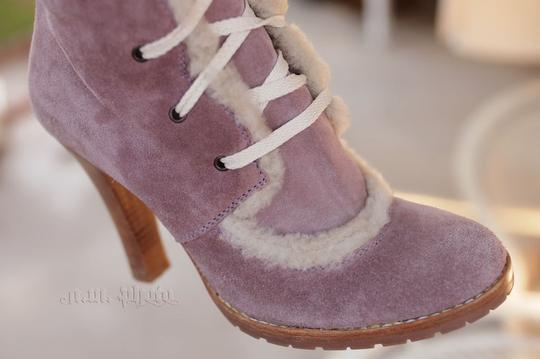 Marc Jacobs Shearling Sheepskin Suede Winter dusty rose Boots