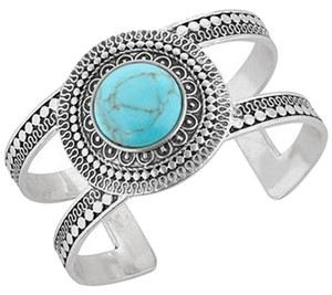 Lucky Brand BRAND NEW! Lucky Brand Silver-Tone Turquoise Cuff Bracelet