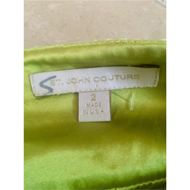 St. John Classic Tailored Size 2 Couture Skirt green
