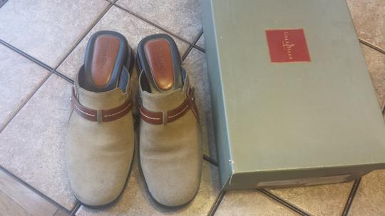 Cole Haan Comfortable Suede Leather tan Mules