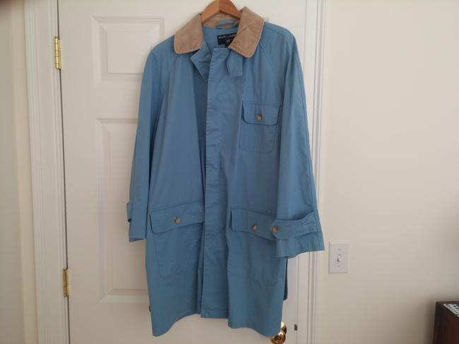Ralph Lauren Corduroy Collar Made In Usa Button Pockets Vent Holes Raincoat