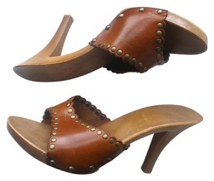 Grommets Leather Brown Platforms