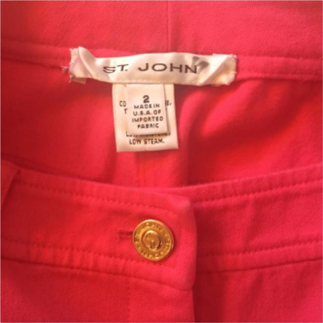 St. John Pink Denim Pants Relaxed Fit Jeans