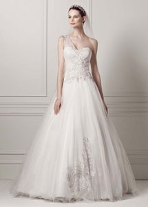 Oleg Cassini Oleg Cassini One Shoulder Tulle Wedding Dress