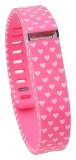 Other NEW Pink with White Heart Polka Dots Replacement Band Bracelet for Fitbit Flex with Clasp Small S