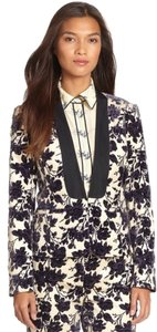 Tory Burch Cream and blue floral Blazer