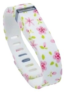Other NEW White with Pink and Green Flowers Floral Replacement Band Bracelet for Fitbit Flex with Clasp Small S