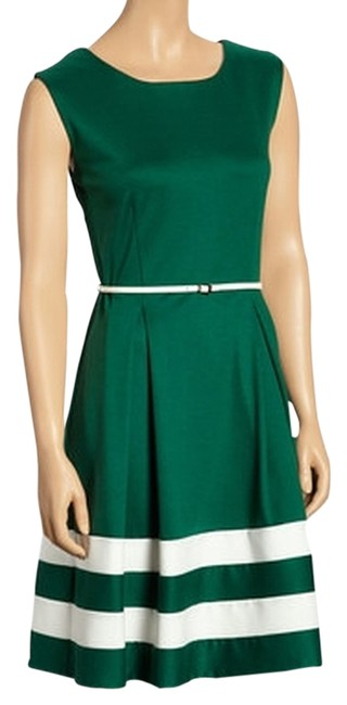 Item - Green Ivory 288b-90 Above Knee Work/Office Dress Size 4 (S)