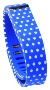 Other NEW Blue with White Polka Dots Replacement Band Bracelet for Fitbit Flex with Clasp Large L