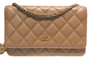 Chanel Woc Lambskin Cross Body Bag